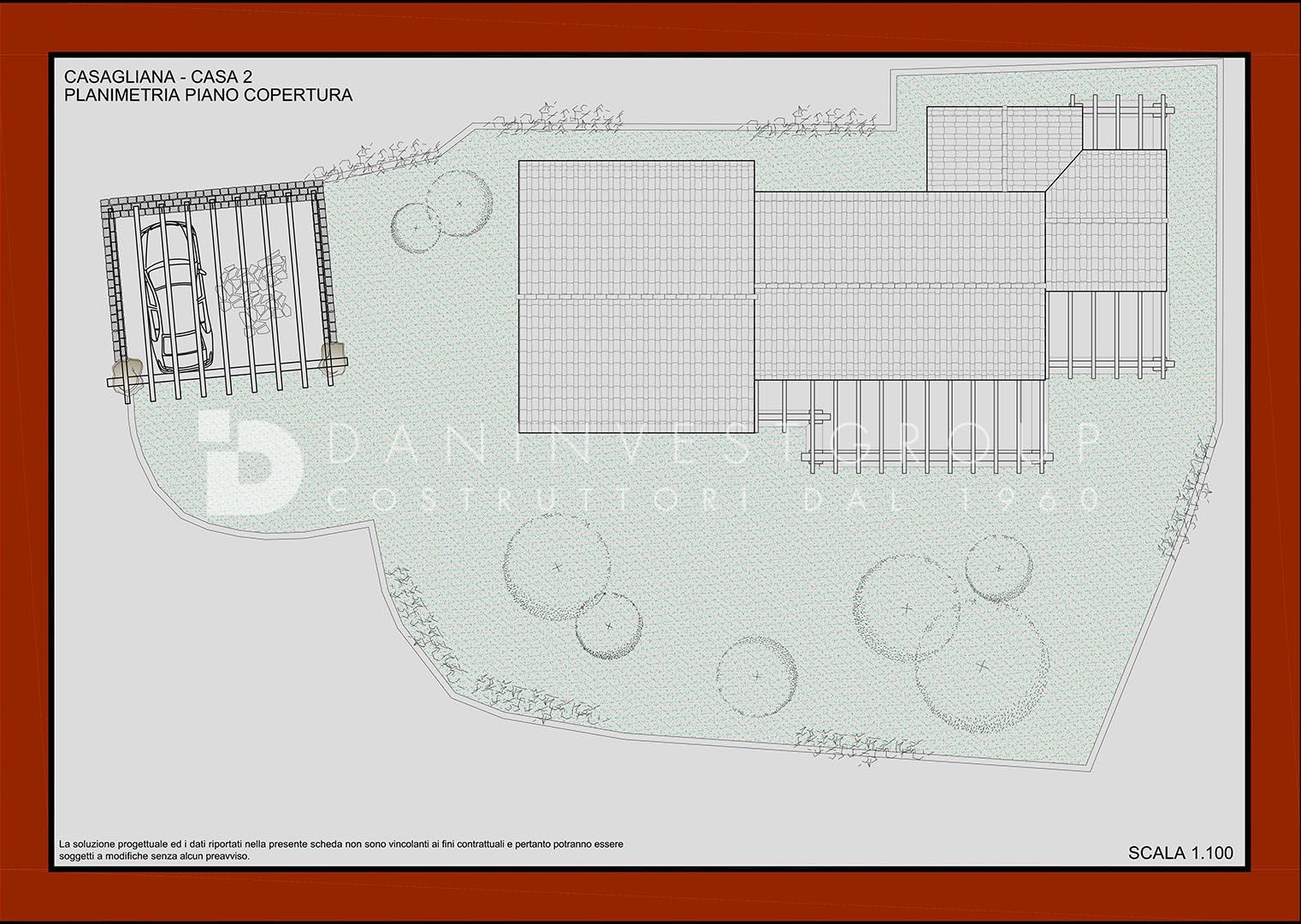 Planimetria Piano copertura